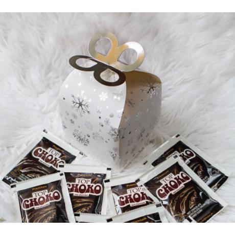 Díszdobozos Forrócsokoládé Mézeskalács/Tejcsokoládé ízben 10 adag - Fehér
