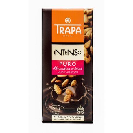 Trapa Étcsokoládé 55%-os kakaótartalommal,mandulával 190g