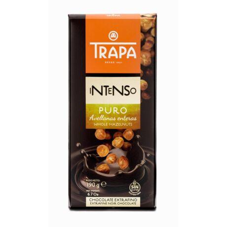 Trapa Étcsokoládé 55%-os kakaótartalommal,egészmogyoróval 190g