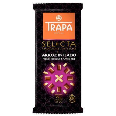 Trapa Tejcsokoládé pirított rízzsel 75g
