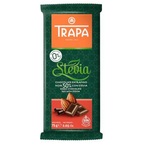 Trapa Steviás Étcsokoládé  50% 75g