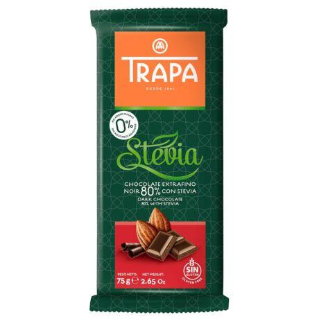 Trapa Steviás étcsokoládé  80%  75g