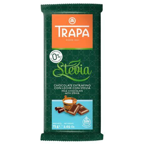 Trapa Steviás tejcsokoládé édesítőszerrel 75g