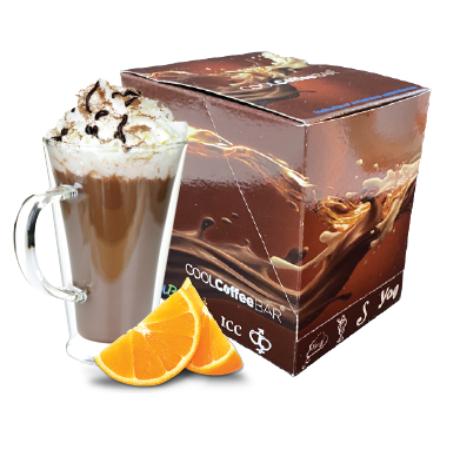 COOLCoffeeBAR - Narancsos forró csokoládé ízű italpor 10 adag