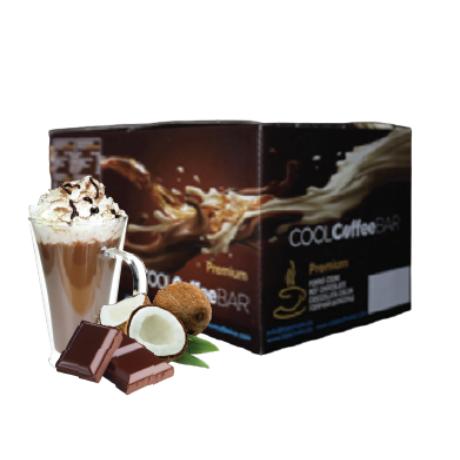 COOLCoffeeBAR - Kókuszos forró tejcsokoládé ízű italpor 20 adag