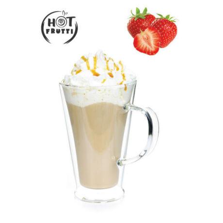 Hotfrutti Eper - Fehér csokoládé ízű italpor eper darabokkal - 5 adag