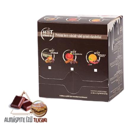 Hotfrutti Almáspite - Forró csokoládé ízű italpor alma darabokkal - 25 adag
