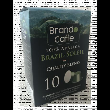 Nespresso kávéfőzőgéppel kompatibilis kávékapszula Brazil-soleil 100% arabica