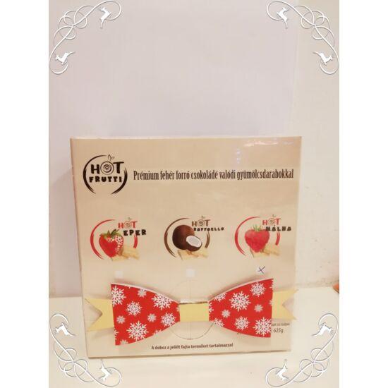 Fehér csokoládé ízű italpor málna darabokkal